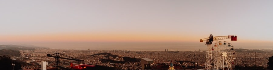 Tibidabo sunset